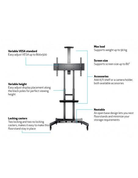 Multibrackets M Public Floorstand Basic 180 incl shelf & camera holder Multibrackets 7350073734627 - 20