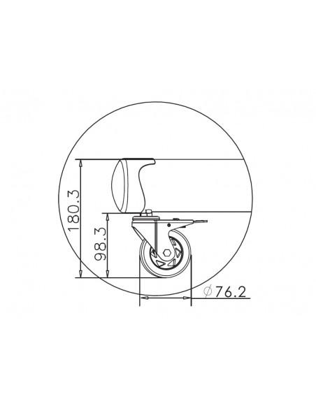 """Multibrackets 4627 kyltin näyttökiinnike 2.03 m (80"""") Musta Multibrackets 7350073734627 - 25"""