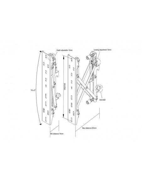 """Multibrackets 4726 kyltin näyttökiinnike 165.1 cm (65"""") Musta Multibrackets 7350073734726 - 20"""