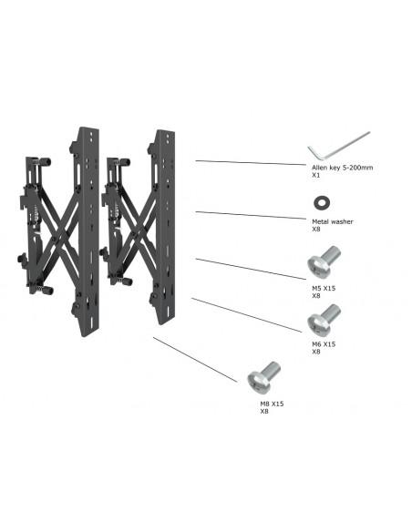"""Multibrackets 4726 fäste för skyltningsskärm 165.1 cm (65"""") Svart Multibrackets 7350073734726 - 24"""