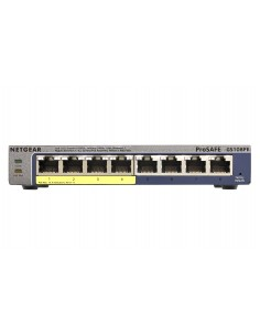 Netgear GS108PE Hallittu Gigabit Ethernet (10/100/1000) Power over -tuki Musta Netgear GS108PE-300EUS - 1