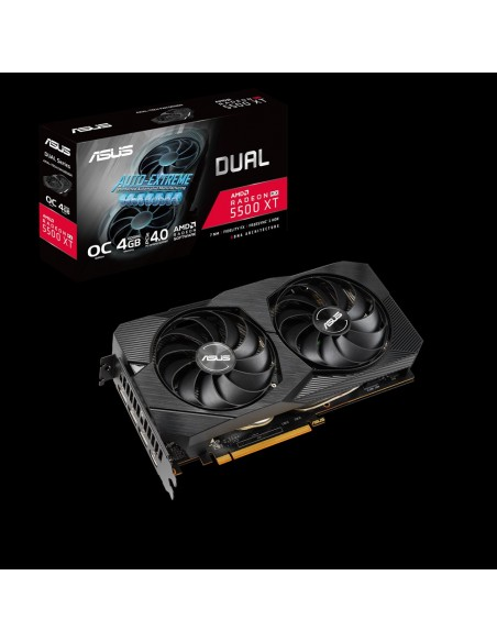 ASUS Dual -RX5500XT-O4G-EVO AMD Radeon RX 5500 XT 4 GB GDDR6 Asus 90YV0DV2-M0NA00 - 2