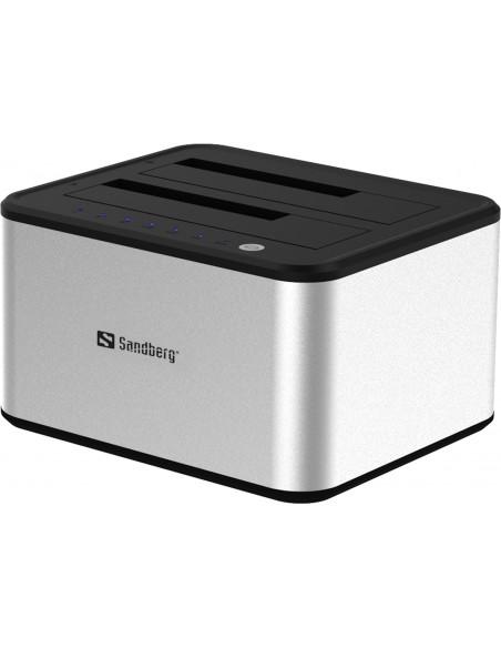 Sandberg USB 3.0 Hard Disk Cloner 3.2 Gen 1 (3.1 1) Type-B Silver, White Sandberg 133-74 - 3