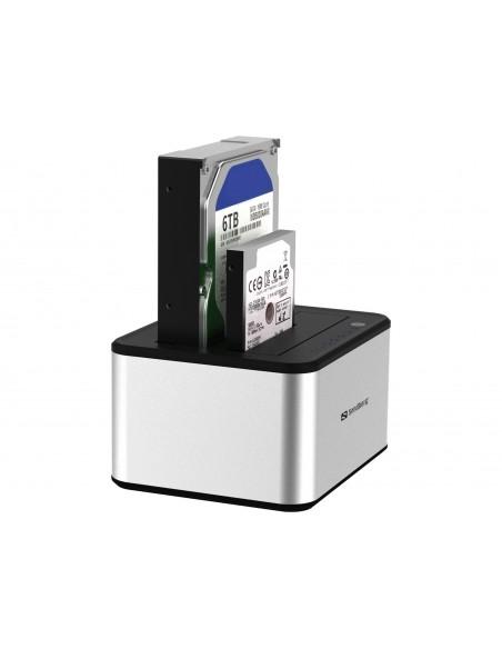 Sandberg USB 3.0 Hard Disk Cloner 3.2 Gen 1 (3.1 1) Type-B Silver, White Sandberg 133-74 - 4