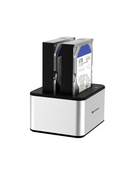 Sandberg USB 3.0 Hard Disk Cloner 3.2 Gen 1 (3.1 1) Type-B Silver, White Sandberg 133-74 - 5