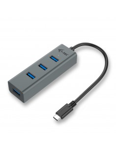 i-tec Metal C31HUBMETAL403 keskitin USB 3.2 Gen 1 (3.1 1) Type-C 5000 Mbit/s Harmaa I-tec Accessories C31HUBMETAL403 - 1