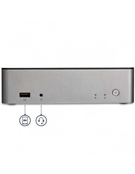 "StarTech.com Dual-Monitor USB-C Dock for Windows - 2.5"" SATA SSD/HDD Bay Startech MST30C2HDPPD - 4"