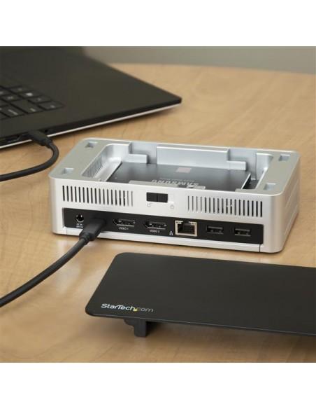 StarTech.com USB-C-dockningsstation för dubbla skärmar Windows med 2.5 tums SATA SSD/HDD-hårddiskfack Startech MST30C2HDPPD - 7