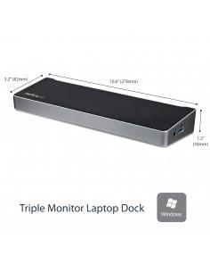 StarTech.com USB 3.0-dockningsstation för trippelskärmar - 1x HDMI 2x DisplayPort Startech USB3DOCKH2DP - 1