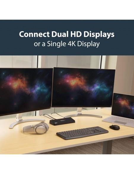 StarTech.com USB3DOCKHDPC kannettavien tietokoneiden telakka ja porttitoistin Langallinen USB 3.2 Gen 1 (3.1 1) Type-B Musta Sta