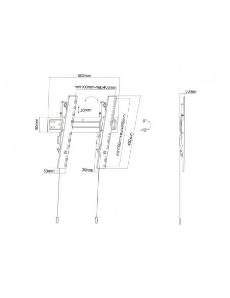 Multibrackets M VESA Wallmount Super Slim Tilt 400 MAX Multibrackets 7350073735532 - 19