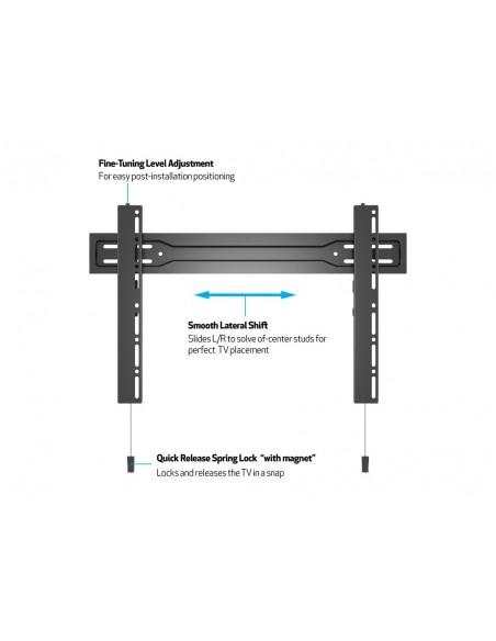 """Multibrackets 5563 kyltin näyttökiinnike 2.54 m (100"""") Musta Multibrackets 7350073735563 - 11"""