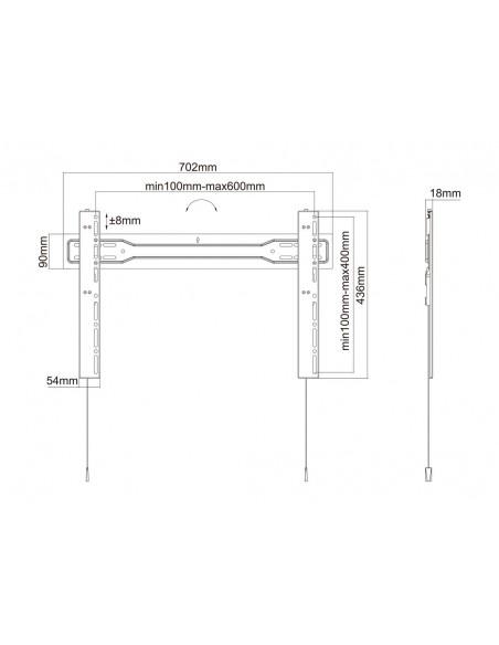 """Multibrackets 5563 kyltin näyttökiinnike 2.54 m (100"""") Musta Multibrackets 7350073735563 - 18"""