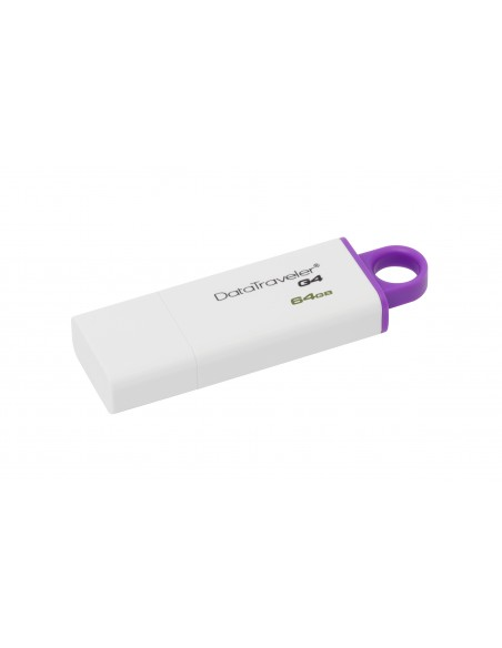 Kingston Technology DataTraveler G4 USB-muisti 64 GB USB A-tyyppi 3.2 Gen 1 (3.1 1) Violetti, Valkoinen Kingston DTIG4/64GB - 3