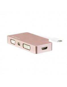 StarTech.com CDPVDHDMDPRG USB grafiikka-adapteri 3840 x 2160 pikseliä Ruusukulta Startech CDPVDHDMDPRG - 1