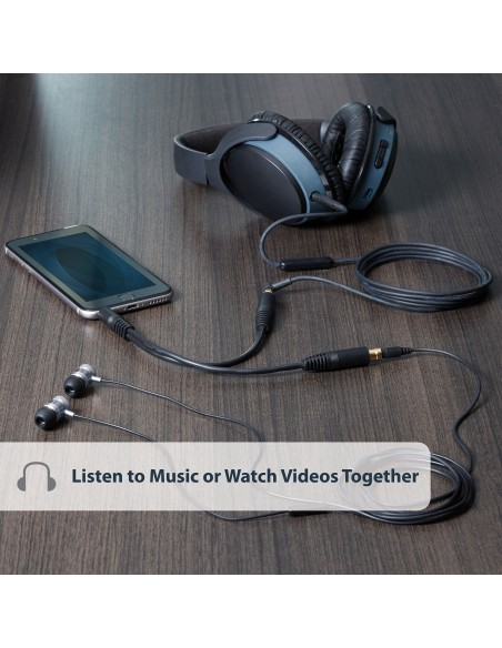 StarTech.com MUY1MFF audiokaapeli 0.15 m 3.5mm 2 x Musta Startech MUY1MFF - 5