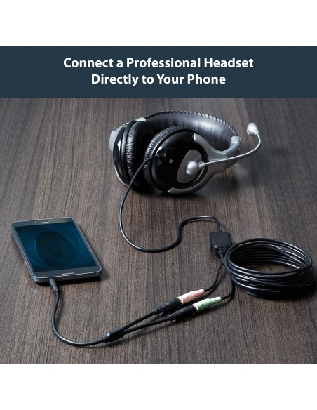 StarTech.com Headset adapter for headsets with separate headphone / microphone plugs - 3.5mm 4 position to 2x 3 M/F Startech MUY
