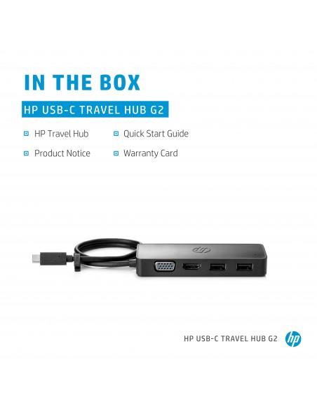 HP USB-C Travel Hub G2 USB 3.2 Gen 1 (3.1 1) Type-C Hp 7PJ38AA - 9