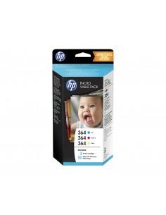 HP Photo Value Pack 364 Series 50 sheets 10x15 cm Original Cyan, Magenta, Yellow Hp T9D88EE - 1