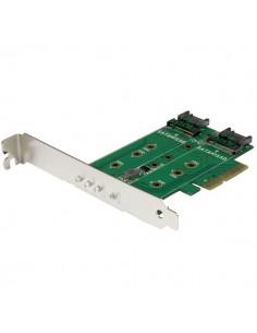 StarTech.com 3-Port M.2 SSD (NGFF) Adapter Card - 1 x PCIe (NVMe) M.2, 2 SATA III 3.0 Startech PEXM2SAT32N1 - 1