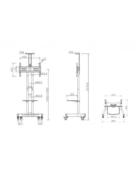 """Multibrackets 2319 kyltin näyttökiinnike 152.4 cm (60"""") Musta Multibrackets 7350073732319 - 23"""