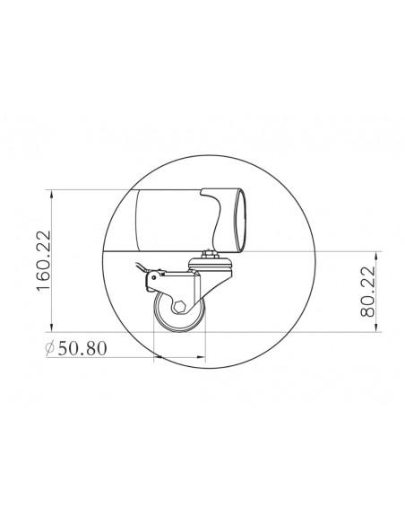 """Multibrackets 2319 kyltin näyttökiinnike 152.4 cm (60"""") Musta Multibrackets 7350073732319 - 25"""
