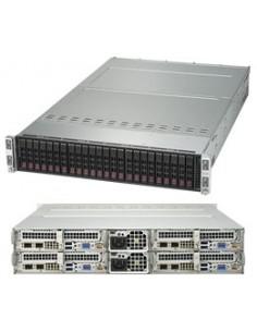 Supermicro 2028TP-HTR-SIOM Intel® C612 LGA 2011 (Socket R) Teline ( 2U ) Musta Supermicro SYS-2028TP-HTR-SIOM - 1