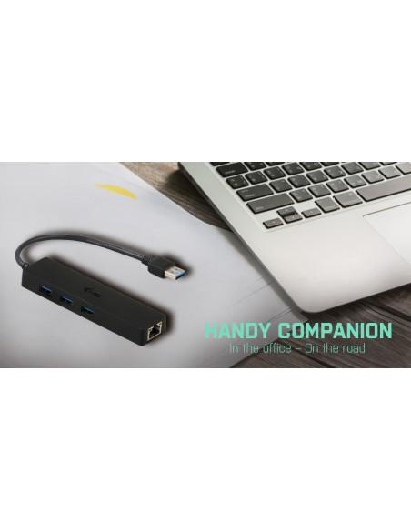 i-tec Advance U3GL3SLIM gränssnittshubbar USB 3.2 Gen 1 (3.1 1) Type-A Svart I-tec Accessories U3GL3SLIM - 10