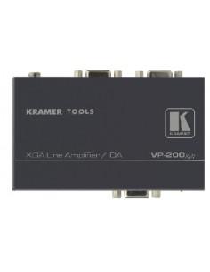 Kramer Electronics VP-200XLN linjeförstärkare för video 400 MHz Svart Kramer 90-70169090 - 1