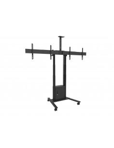 Multibrackets M Motorized Floorstand Dual Screen incl cabinet & cam-shelf 120kg Multibrackets 7350073738557 - 1