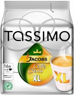 TASSIMO Caffe Crema XL Coffee capsule 16 pc(s) Bosch 4031501 - 1