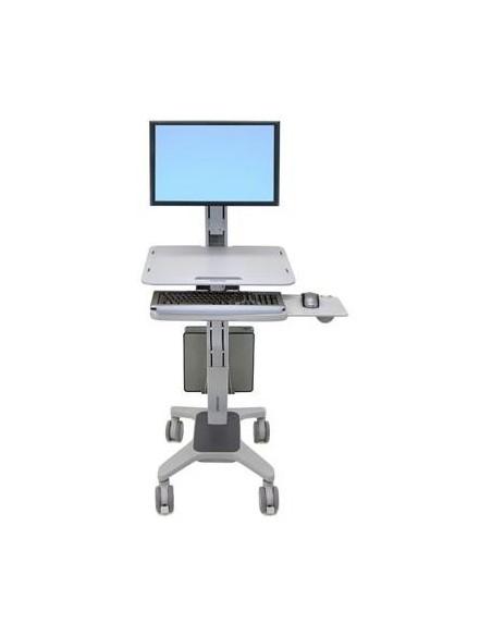 "Ergotron WorkFit C-Mod, Single Display Sit-Stand Workstation 68.6 cm (27"") Harmaa Ergotron 24-198-055 - 1"
