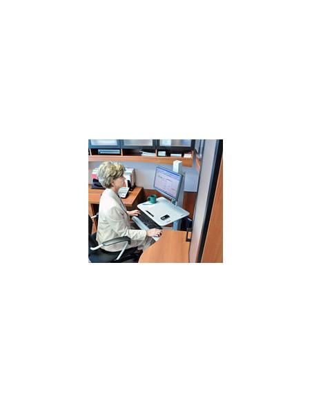 "Ergotron WorkFit C-Mod, Single Display Sit-Stand Workstation 68.6 cm (27"") Harmaa Ergotron 24-198-055 - 2"