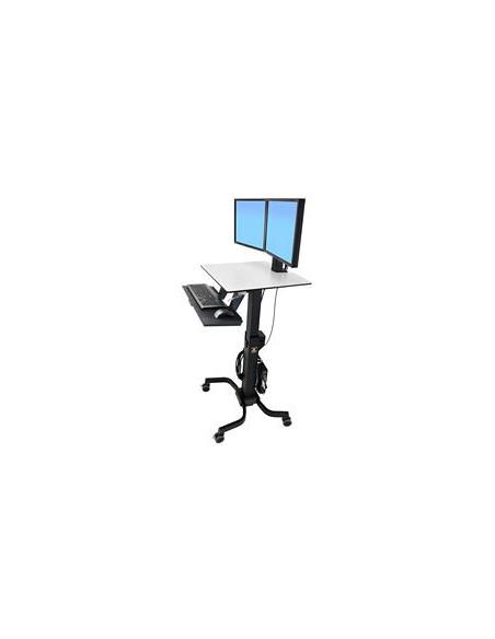 Ergotron WorkFit-C, Dual Sit-Stand Black, Grey Flat panel Multimedia cart Ergotron 24-214-085 - 4