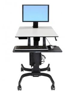 Ergotron WorkFit-C, Single LD Sit-Stand Workstation Black, Grey Multimedia cart Ergotron 24-215-085 - 1