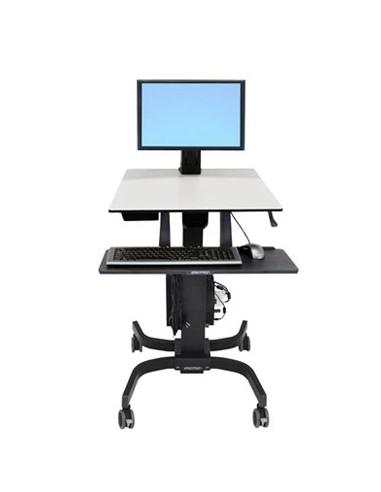 Ergotron WorkFit-C, Single LD Sit-Stand Workstation Svart, Grå Multimediavagn Ergotron 24-215-085 - 1