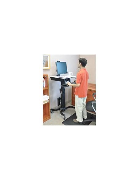 Ergotron WorkFit-C, Single LD Sit-Stand Workstation Svart, Grå Multimediavagn Ergotron 24-215-085 - 3