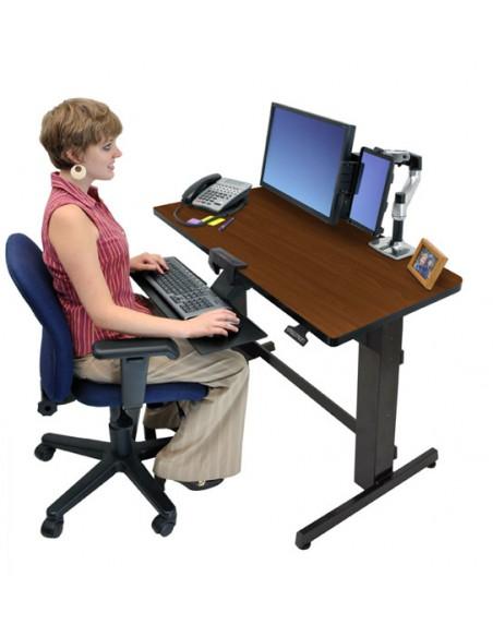 Ergotron WorkFit-D, Sit-Stand Desk datorbord Körsbär Ergotron 24-271-927 - 4