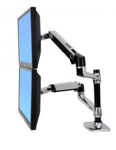 "Ergotron LX Series Dual Stacking Arm 61 cm (24"") Silver Ergotron 45-248-026 - 1"