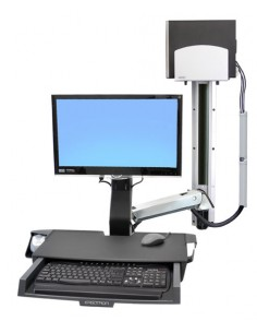 """Ergotron StyleView Sit-Stand Combo System with Worksurface 61 cm (24"""") Ergotron 45-270-026 - 1"""