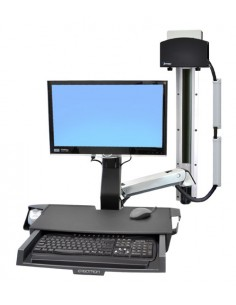 """Ergotron StyleView Sit-Stand Combo System with Worksurface 61 cm (24"""") Aluminium Ergotron 45-272-026 - 1"""