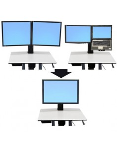 "Ergotron WorkFit Convert-to-Single HD Kit from Dual or LCD & Laptop 76.2 cm (30"") Ergotron 97-607 - 1"