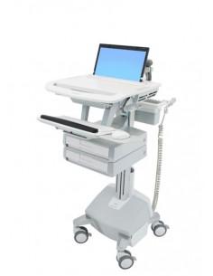 Ergotron StyleView Aluminium, Grey, White Notebook Multimedia cart Ergotron SV44-1122-2 - 1