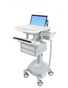 Ergotron StyleView Aluminium, Grey, White Notebook Multimedia cart Ergotron SV44-1142-2 - 1