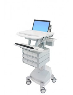 Ergotron StyleView Aluminium, Grey, White Notebook Multimedia cart Ergotron SV44-1191-2 - 1