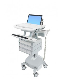 Ergotron StyleView Aluminium, Grey, White Notebook Multimedia cart Ergotron SV44-1192-2 - 1