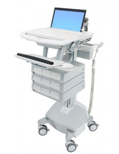 Ergotron SV44-1192-C multimedia cart/stand Aluminium, Grey, White Notebook Ergotron SV44-1192-C - 1