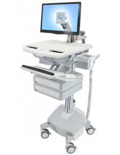 Ergotron SV44-1222-C multimedia cart/stand Aluminium, Grey, White Flat panel Ergotron SV44-1222-C - 1