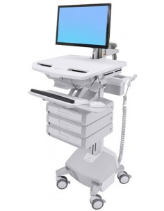 Ergotron SV44-1232-C multimedia cart/stand Aluminium, Grey, White Flat panel Ergotron SV44-1232-C - 1