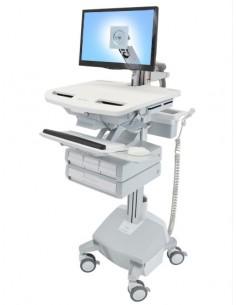 Ergotron StyleView Aluminium, Grey, White Flat panel Multimedia cart Ergotron SV44-1242-2 - 1